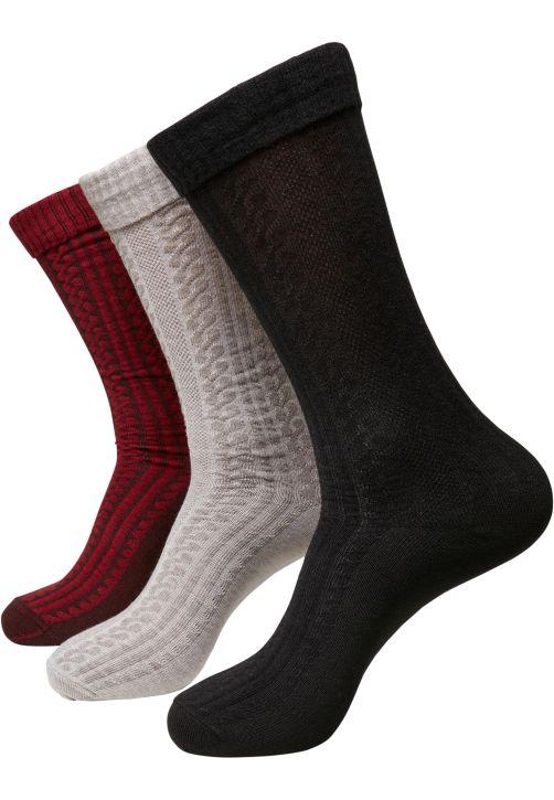 Cosy Jaquard Socks 3-Pack