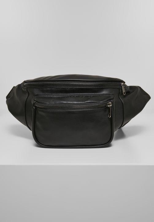 Imitation Leather Double Zip Shoulder Bag