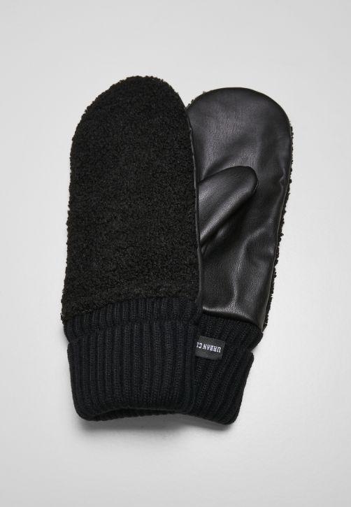 Sherpa Imitation Leather Gloves
