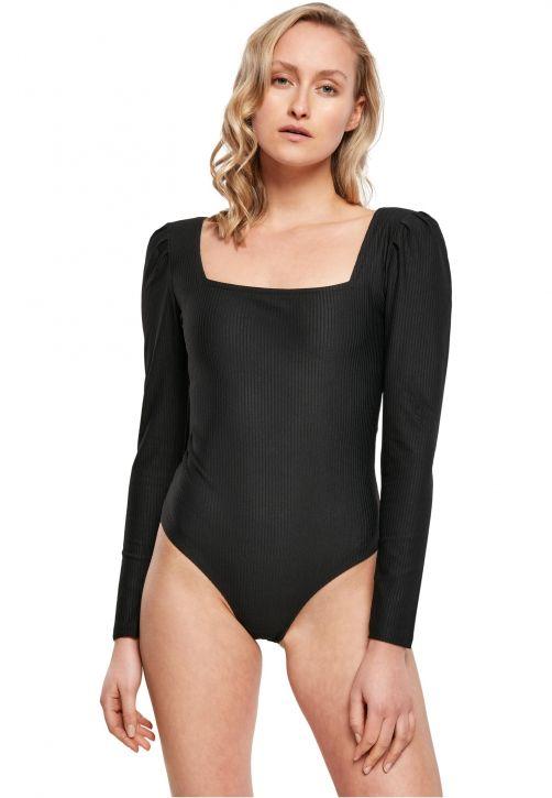 Ladies Rib Puffer Sleeve Body LS