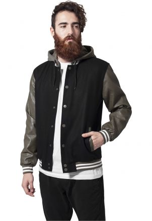 Hooded Oldschool College Jacket