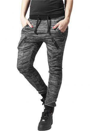 Ladies Fitted Melange Zip Sweatpants