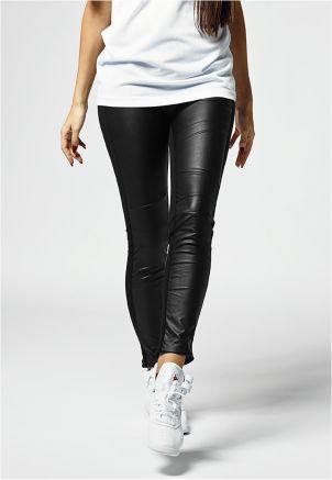 Ladies Front Leather Imitation Leggings