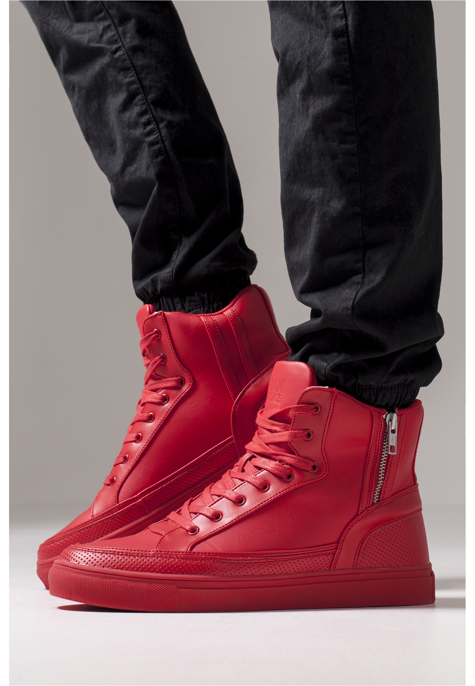 Zipper High Top Shoe-TB1271