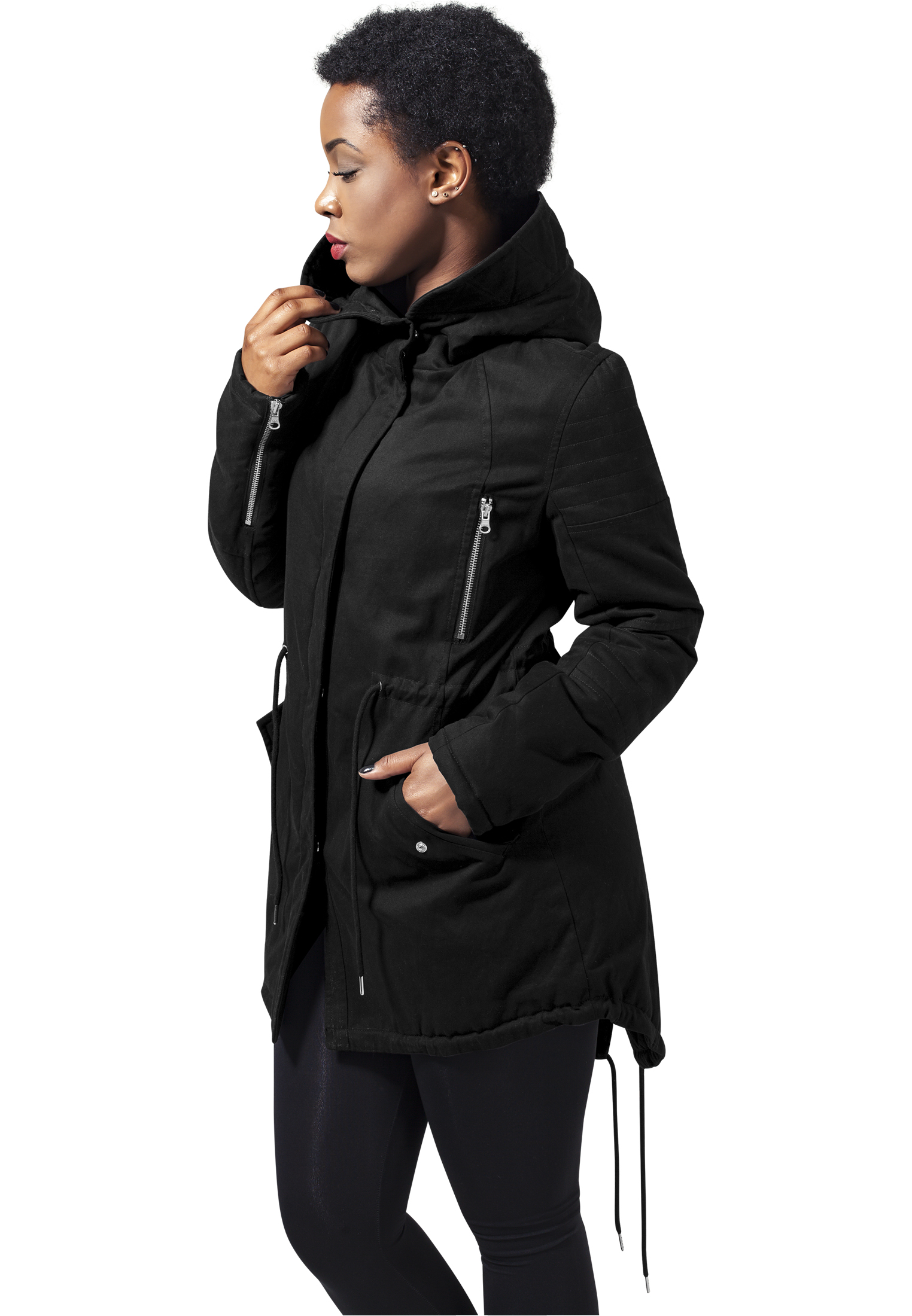 Ladies Sherpa Lined Cotton Parka TB1370