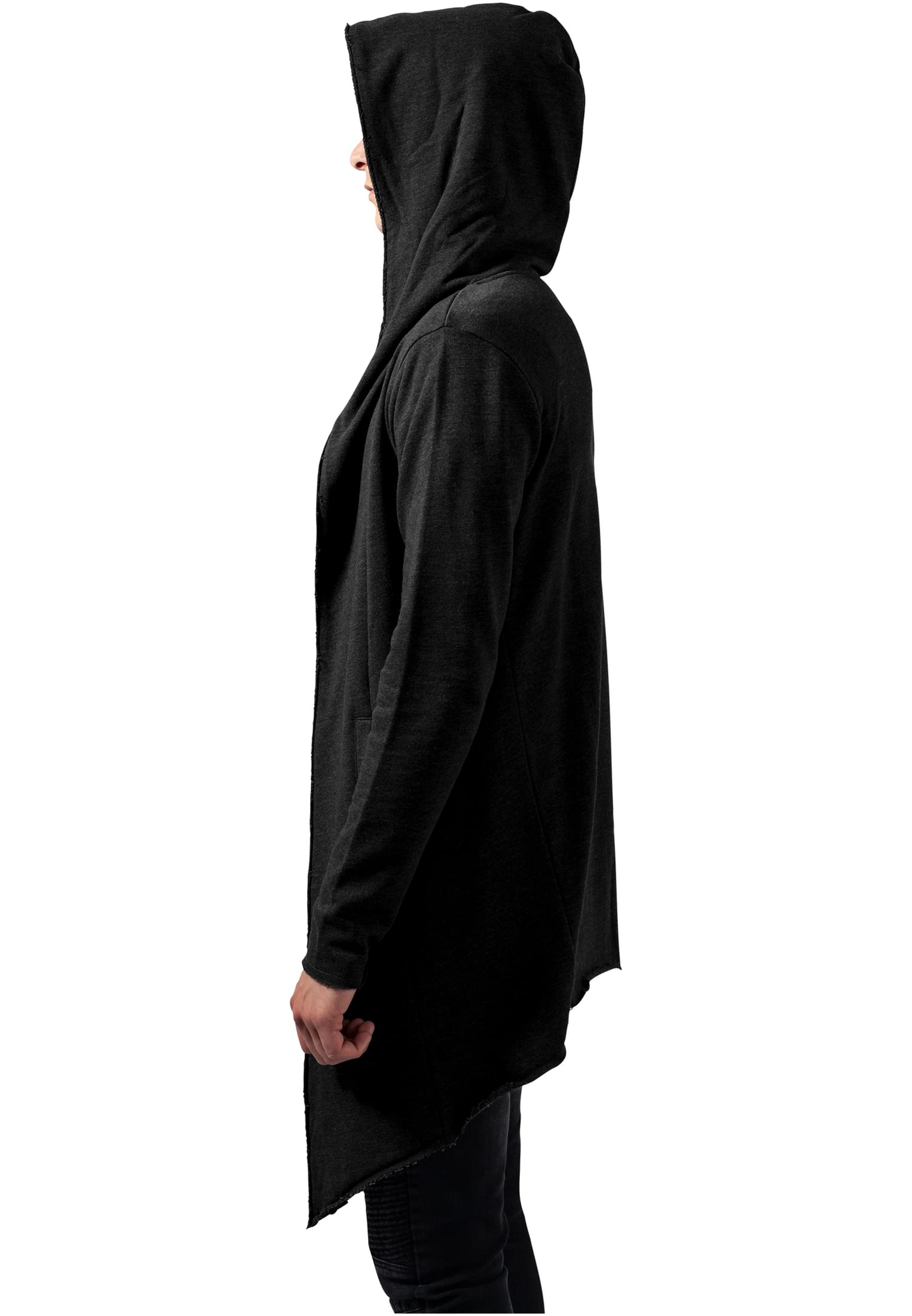 free delivery hot product select for clearance Long Hooded Open Edge Cardigan-TB1389