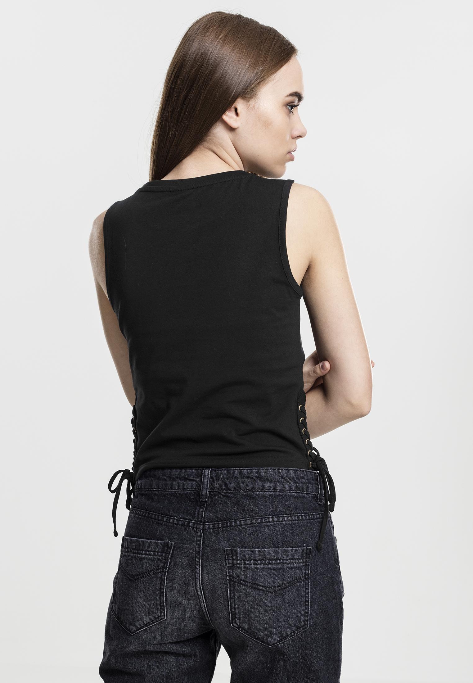 Urban Classics Ladies Lace Up Cropped Top D/ébardeur Femme
