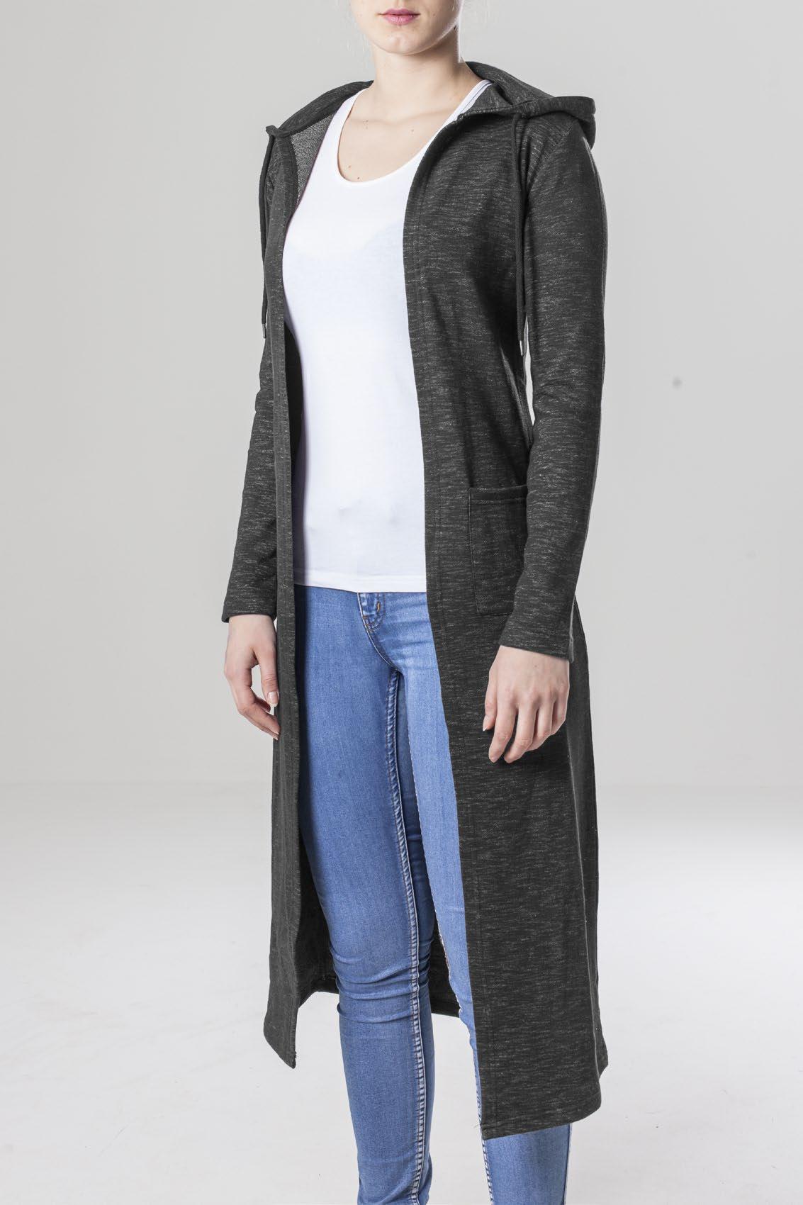 Ladies Space Dye Hooded Cardigan
