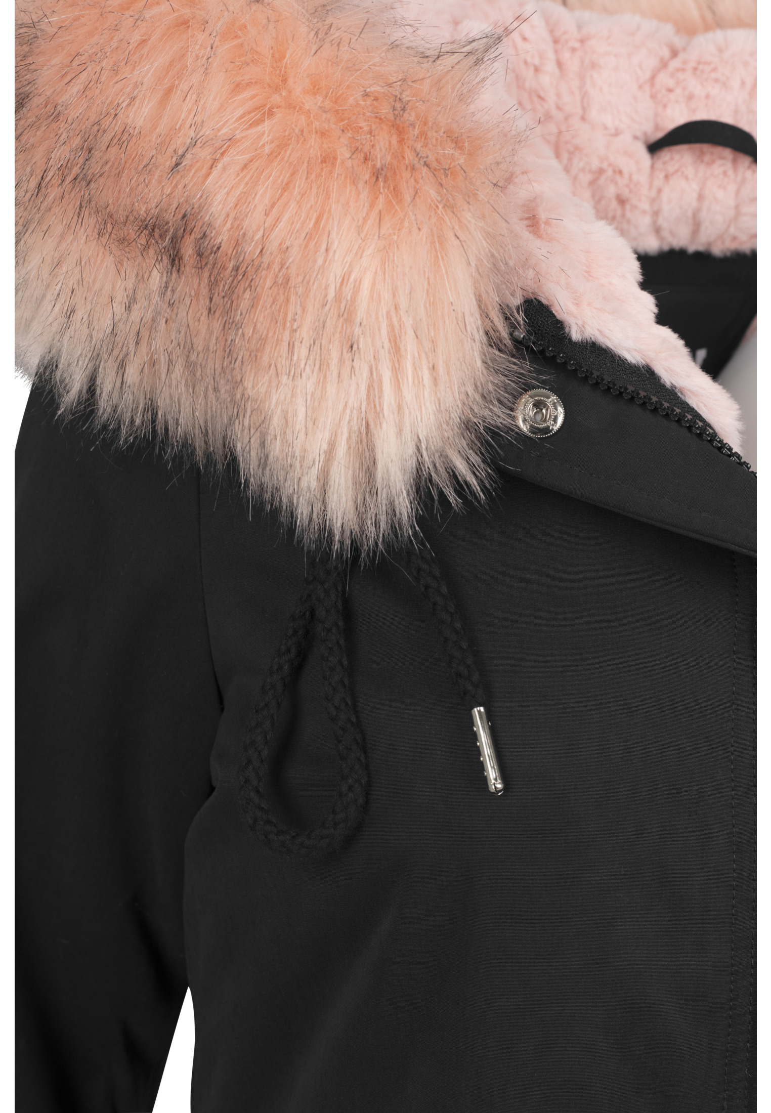 URBAN Classics Donna Giacca Ladies Sherpa Lined Peached Parka