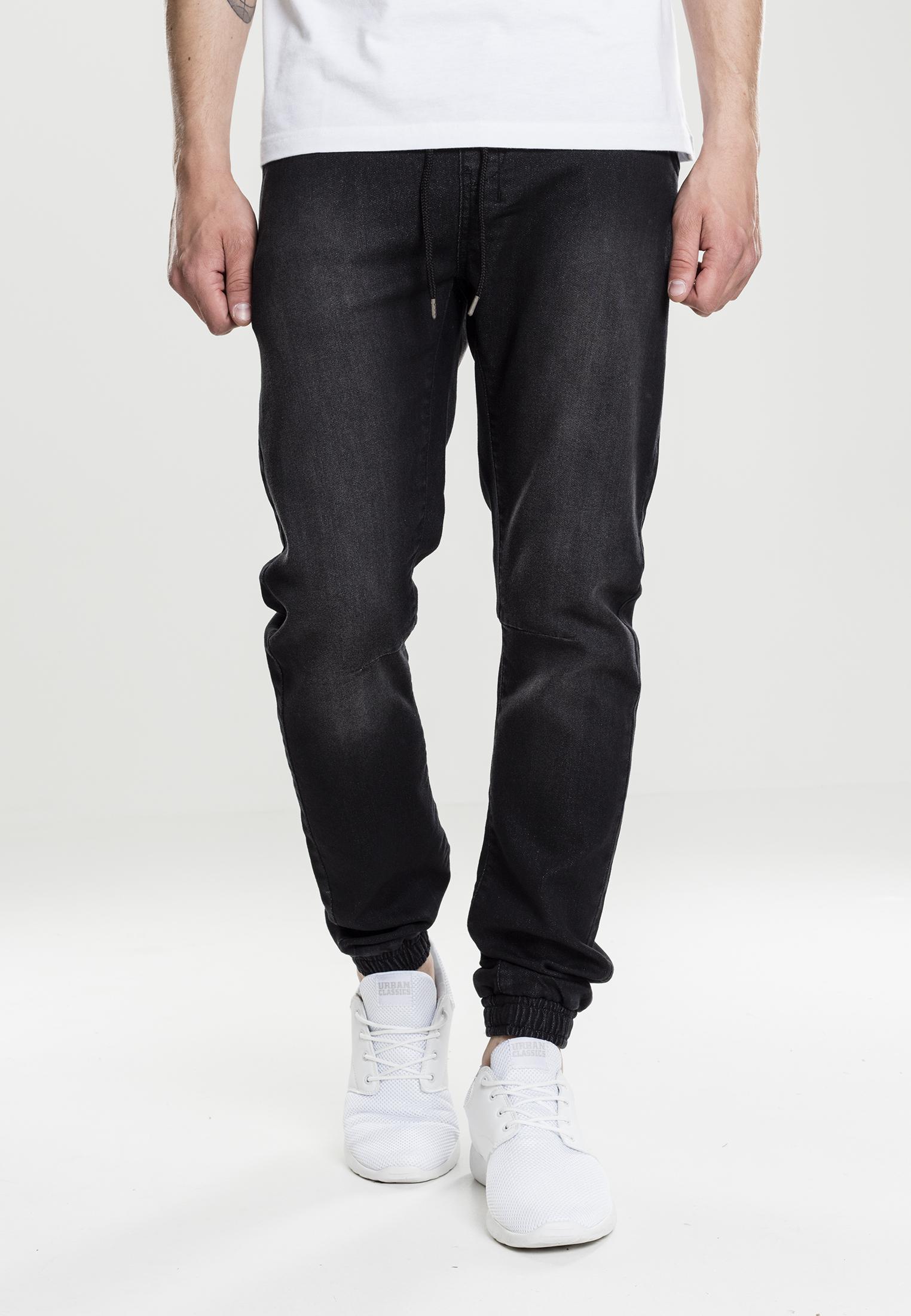 urban classics denim sweatpant herren jeans look. Black Bedroom Furniture Sets. Home Design Ideas