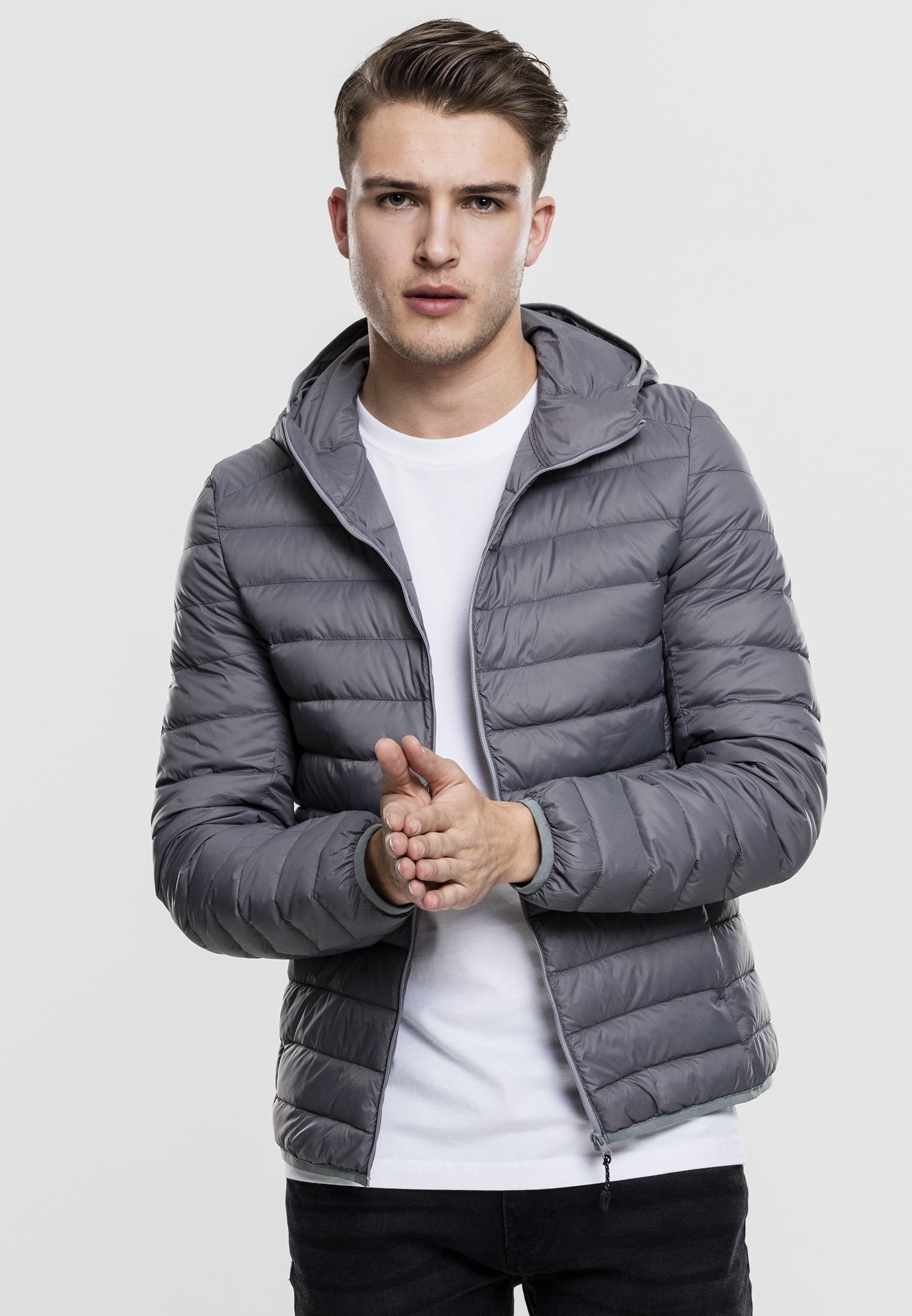 urban classics basic hooded down jacket leichte herren steppjacke mit kapuze ebay. Black Bedroom Furniture Sets. Home Design Ideas