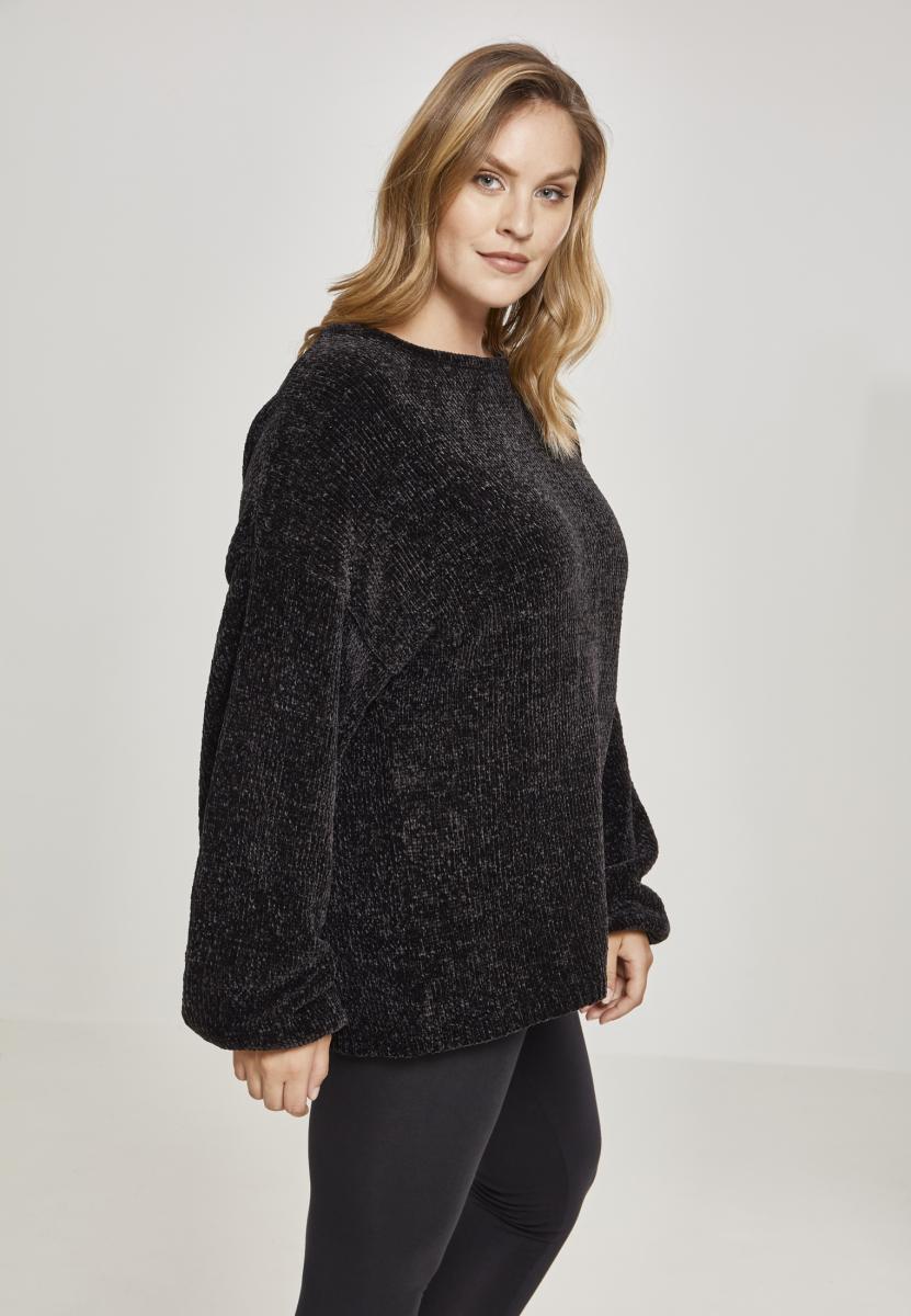Urban Classics Damen Ladies Oversize Chenille Sweater Sweatshirt