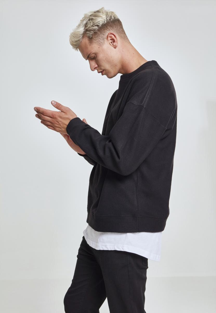 Urban Classics Hommes fleecepullover Sweatshirt Polaire Fleece Crew