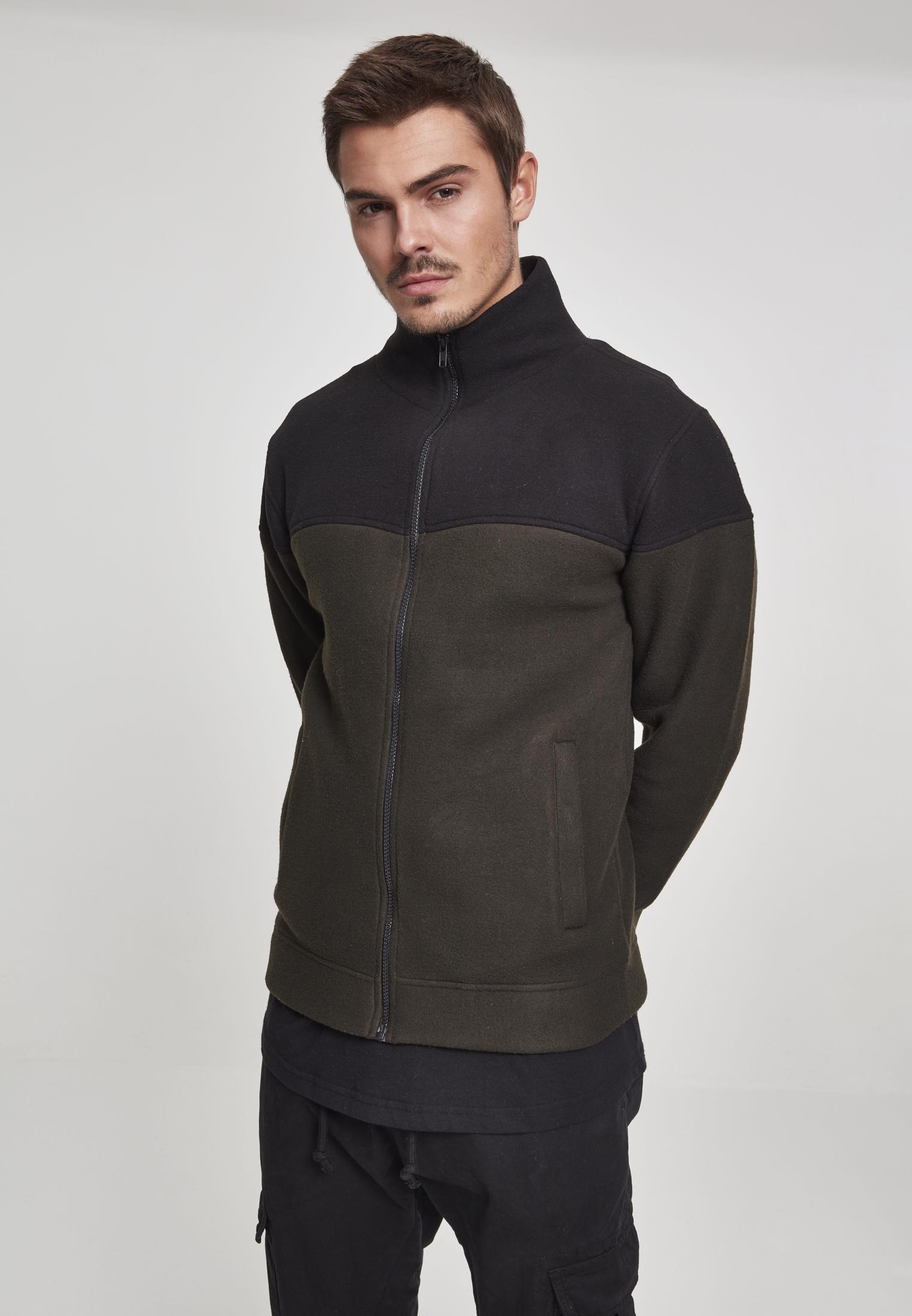 Oversize 2-Tone Polar Fleece Jacket olive black L-TB2492-00868-0042 6ba969f8f7d