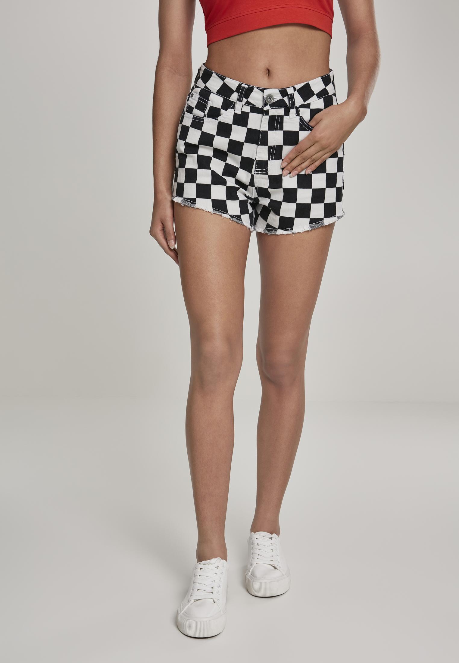 Check Twill Hot Pants Urban Classics Ladies