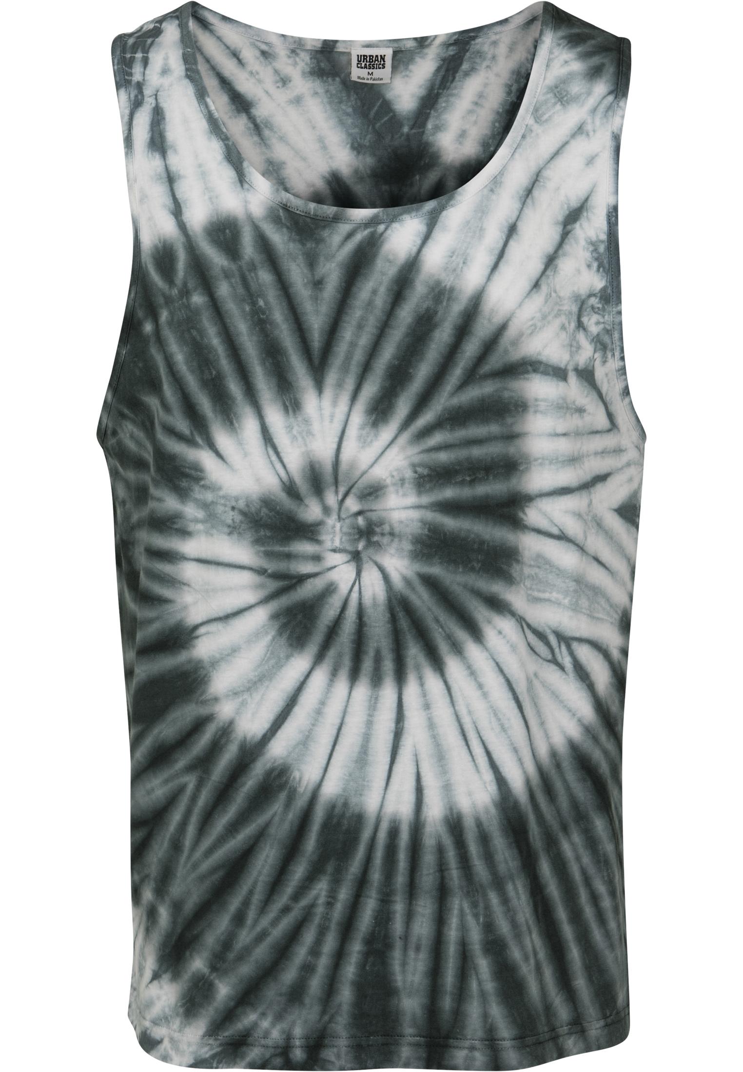 Urban Classics Mens Spiral Tie Dye Tank Sports Top