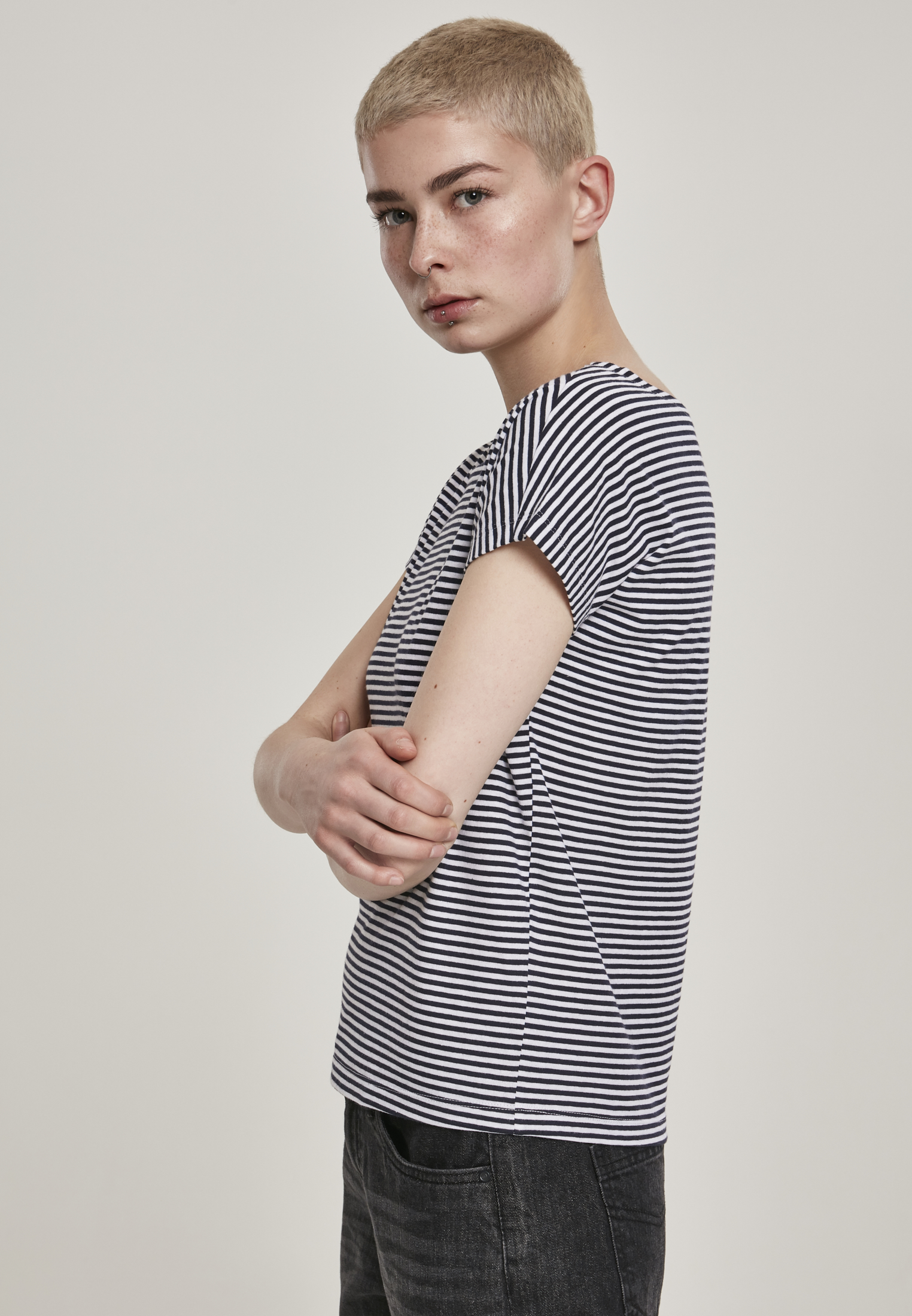 Yarn Dyed Baby Stripe Top Shirt Urban Classics Ladies