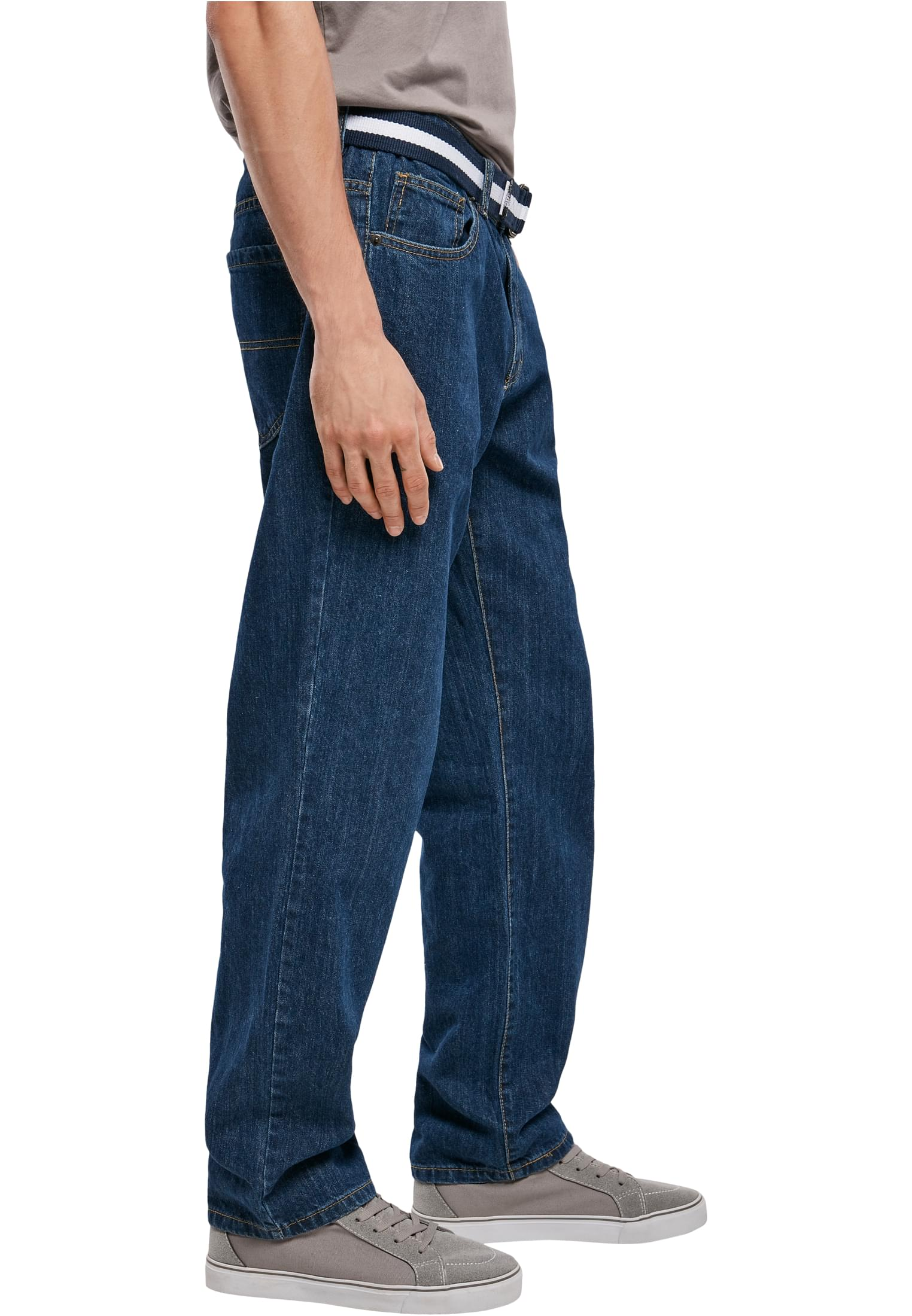 Urban Classics Relaxed Fit Jeans Regular Loose Fit gerades Bein Hose Stretch