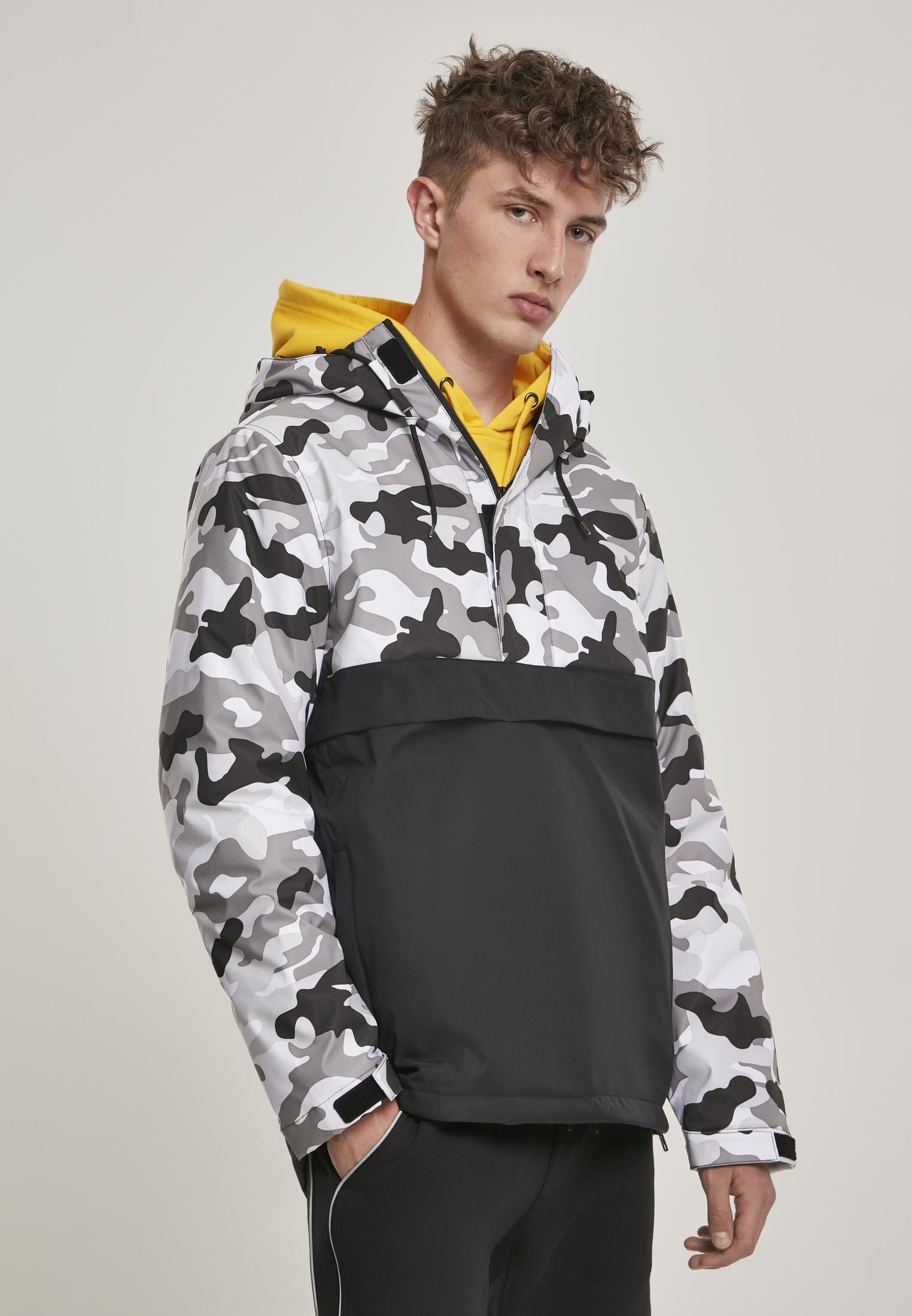 Urban Classics Camo Mix Pull Over Jacket Chaqueta para Hombre