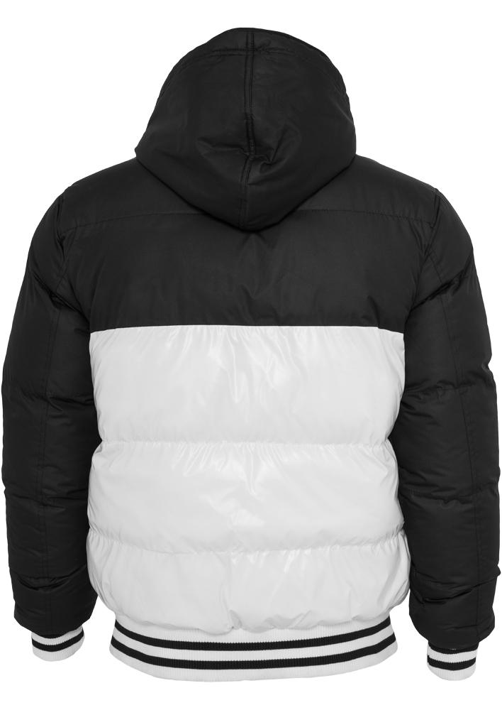 Urban Classics Herren Shiny 2-tone Hooded College Bubble Jacket TB 431 Regular