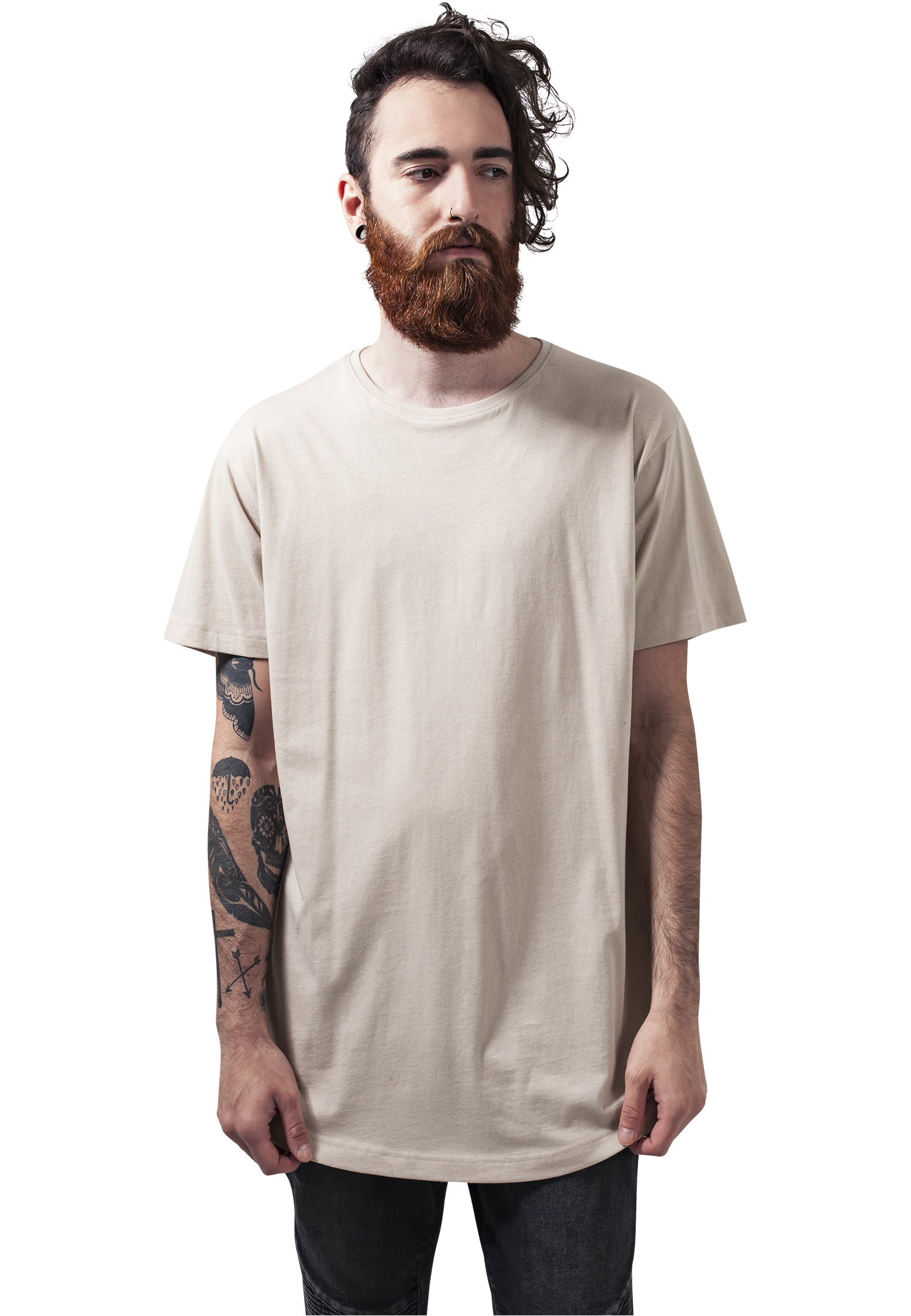 a90911000900 Urban Classics Herren T-Shirt Shaped Long Tee extra lang oversize ...