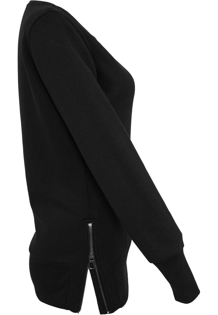 Urban Classics Damen Pullover Sweatshirt Longshirt Pulli Open Edge Crewneck