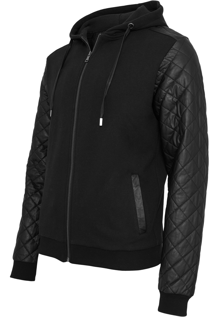 Urban Classics Long Zipped Leather Imitation Crewneck Sudadera para Hombre
