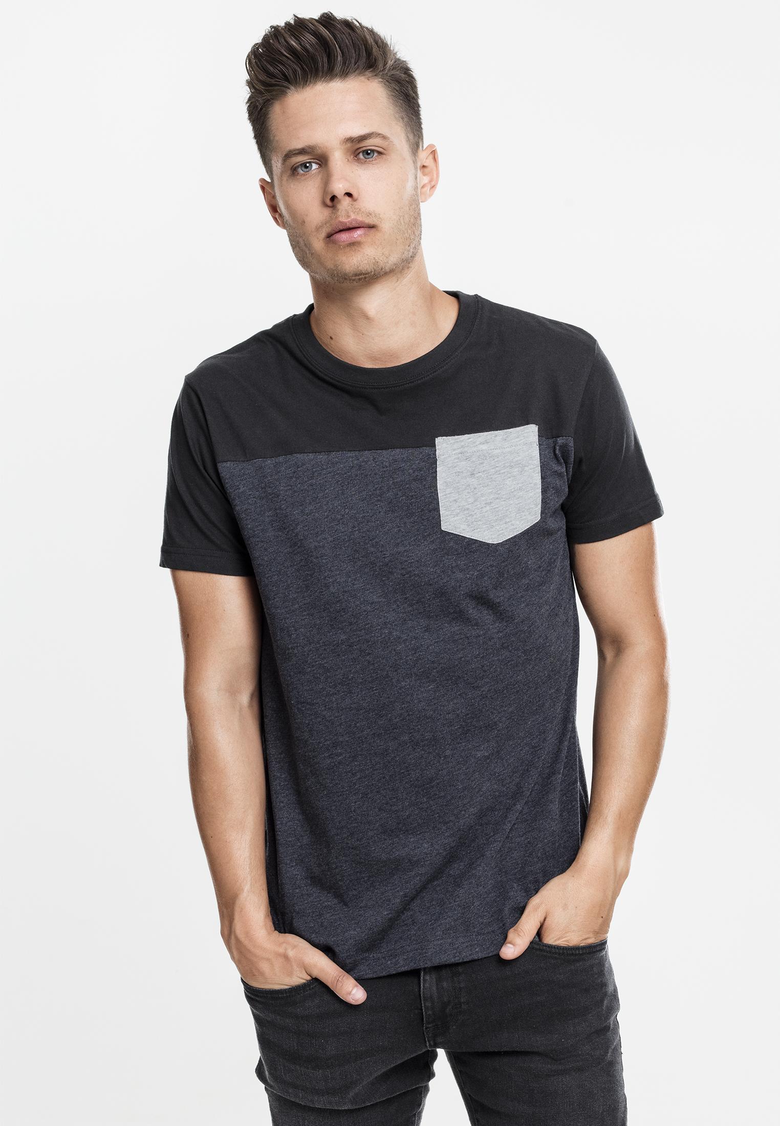 Urban Classics Herren T-Shirt print Muster Thema 3-Tone Tee