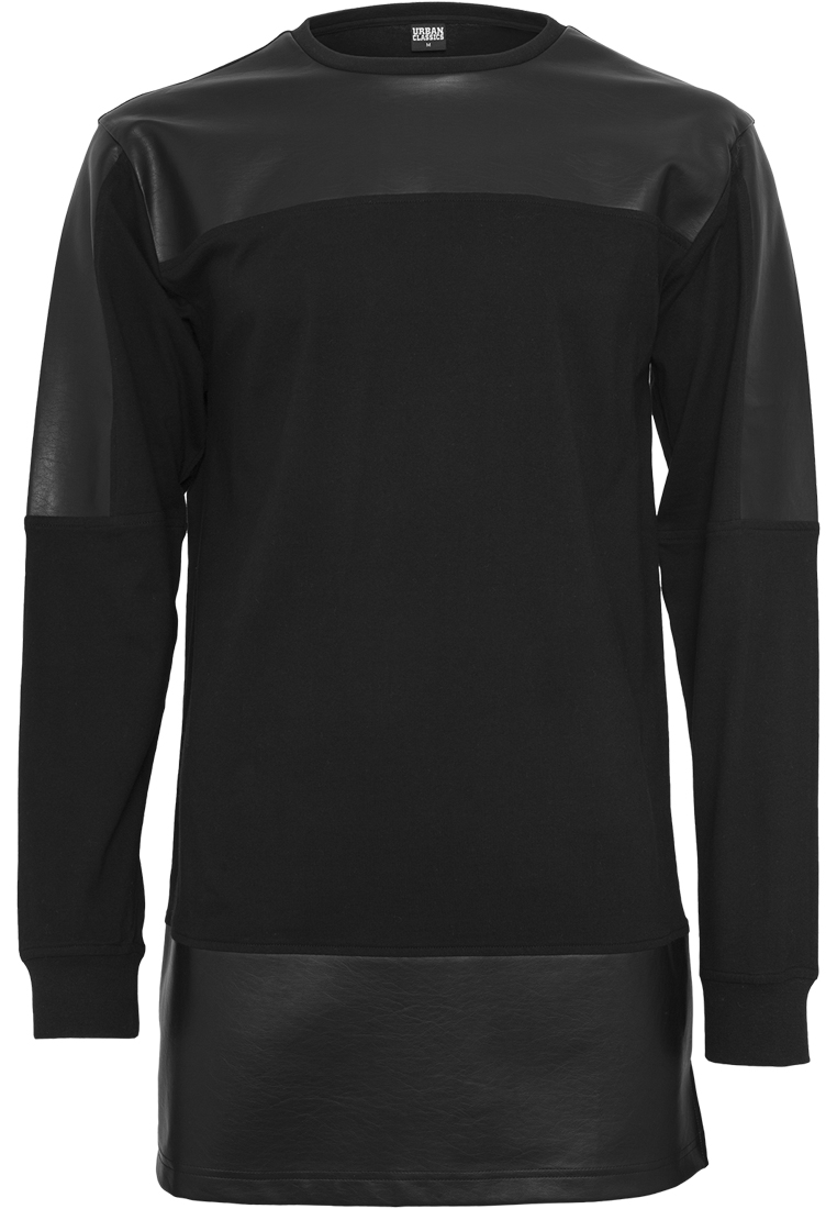 Urban Classics Hommes Manches Longues Shirts Sweat-shirt Camouflage Thermal Boxy Thé 3//4