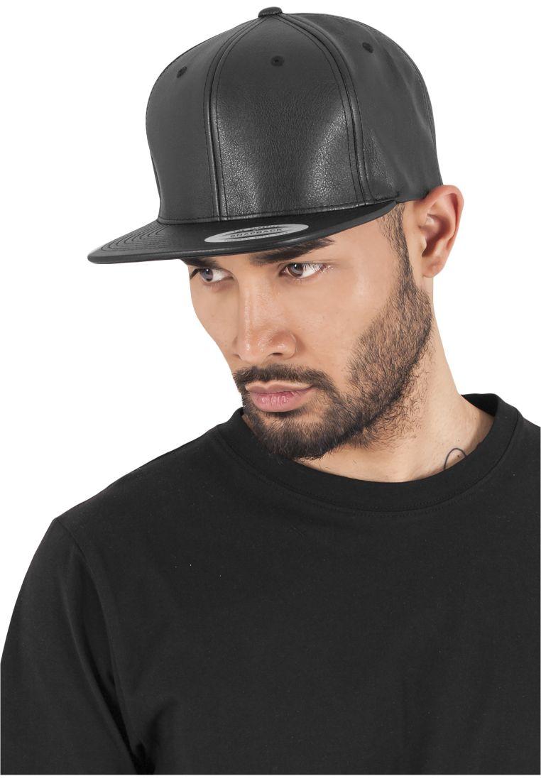 Full Leather Imitation Snapback - LIPPIKSET JA HATUT - TTU6089FL - 1