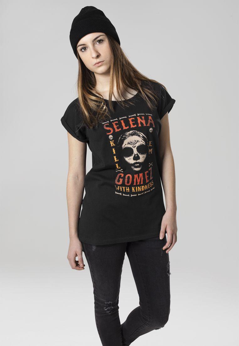 Ladies Selena Gomez Kill Em Skull Tee - T-PAIDAT - TTUMC026 - 1