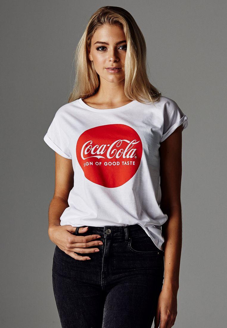 Ladies Coca Cola Round Logo Tee - T-PAIDAT - TTUMC067