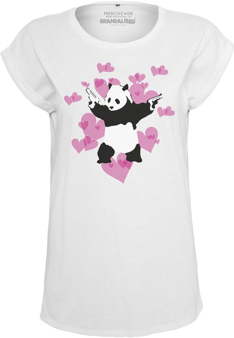 Ladies Banksy Panda Heart Tee - T-PAIDAT - TTUMC088 - 1