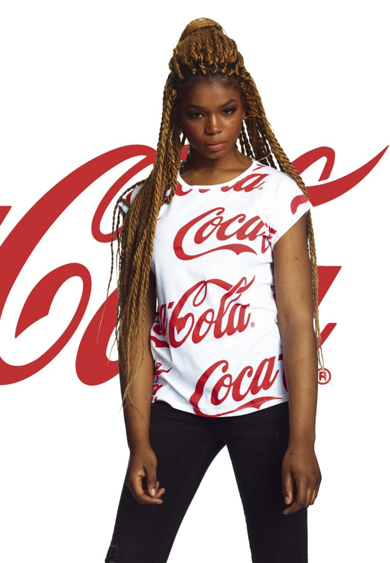 Ladies Coca Cola AOP Tee
