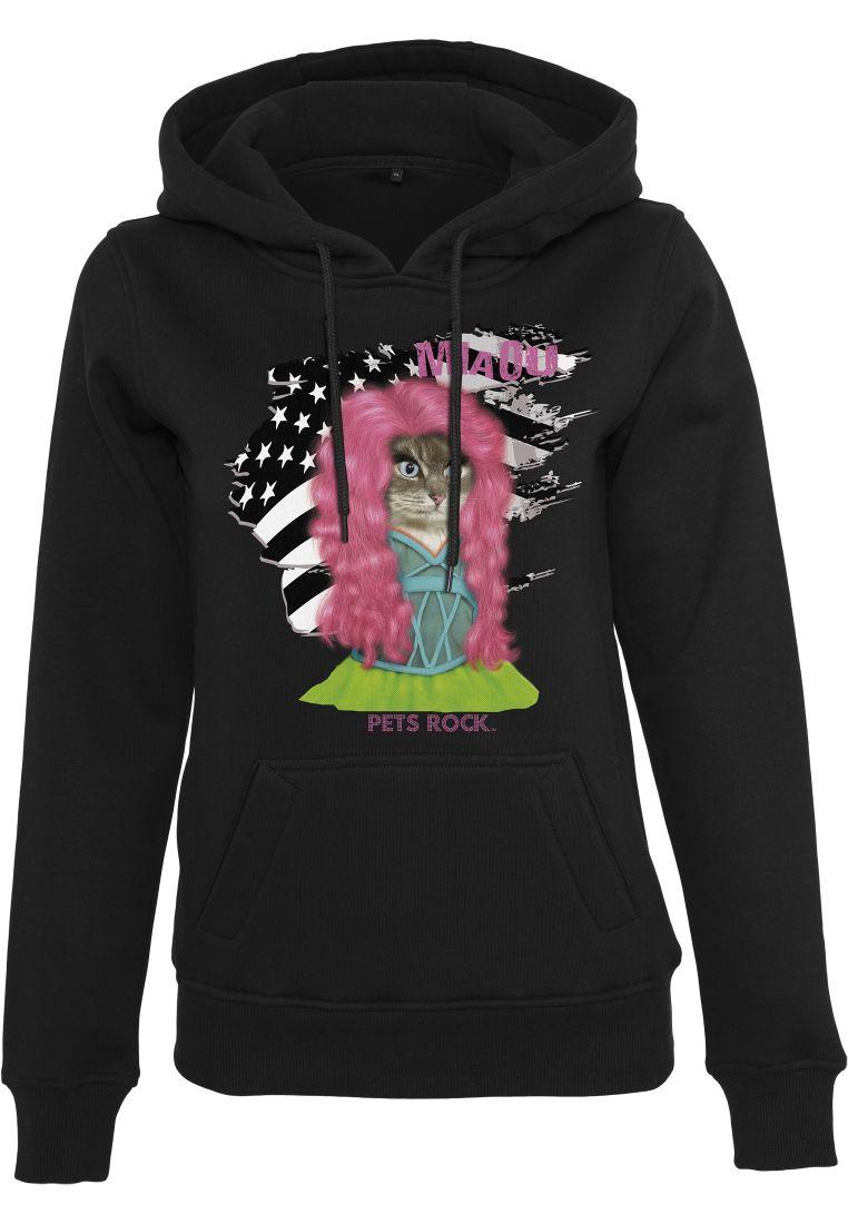 Ladies Petsrock Pink Cat Hoody