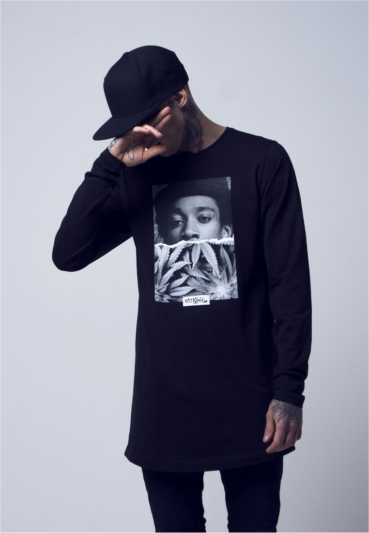 Wiz Khalifa Half Face Longsleeve - COLLEGE PAIDAT - TTUMT339 - 1