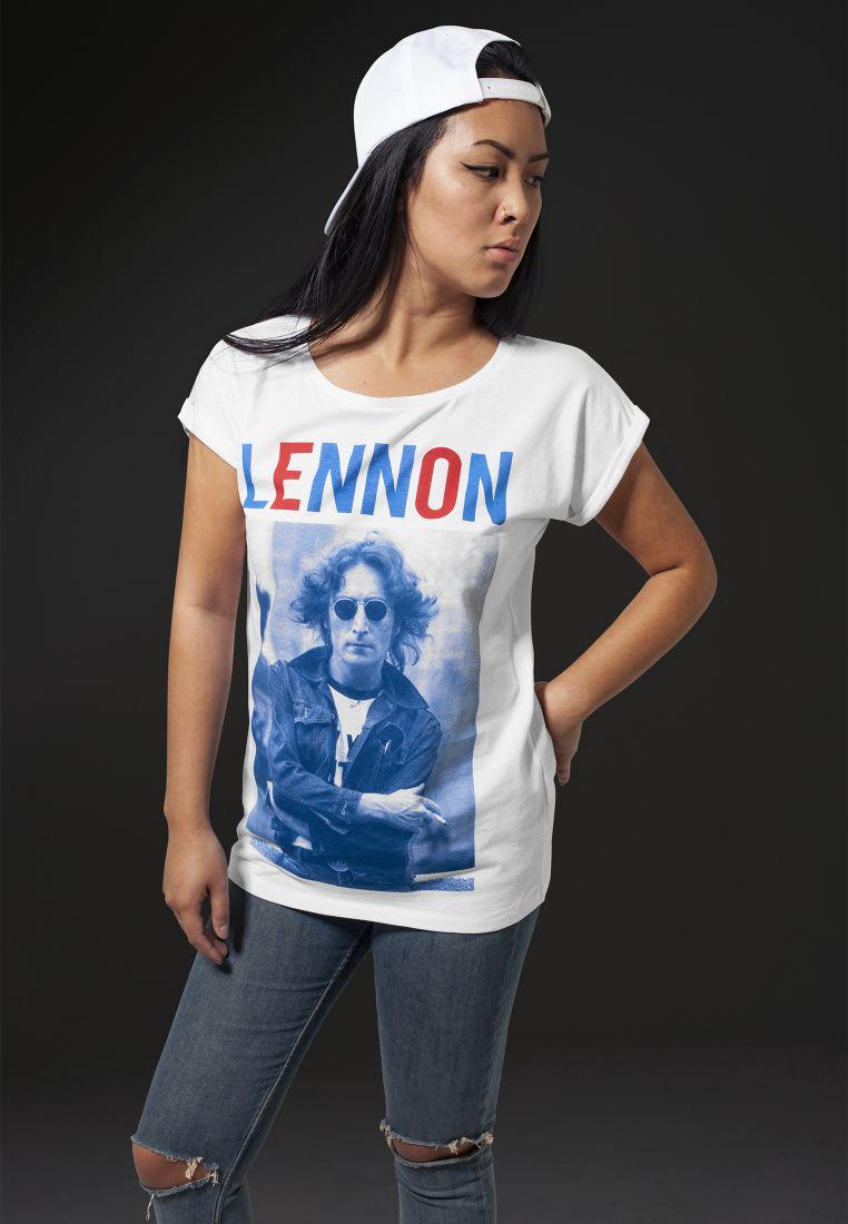 Ladies John Lennon Bluered Tee - T-PAIDAT - TTUMT468 - 1