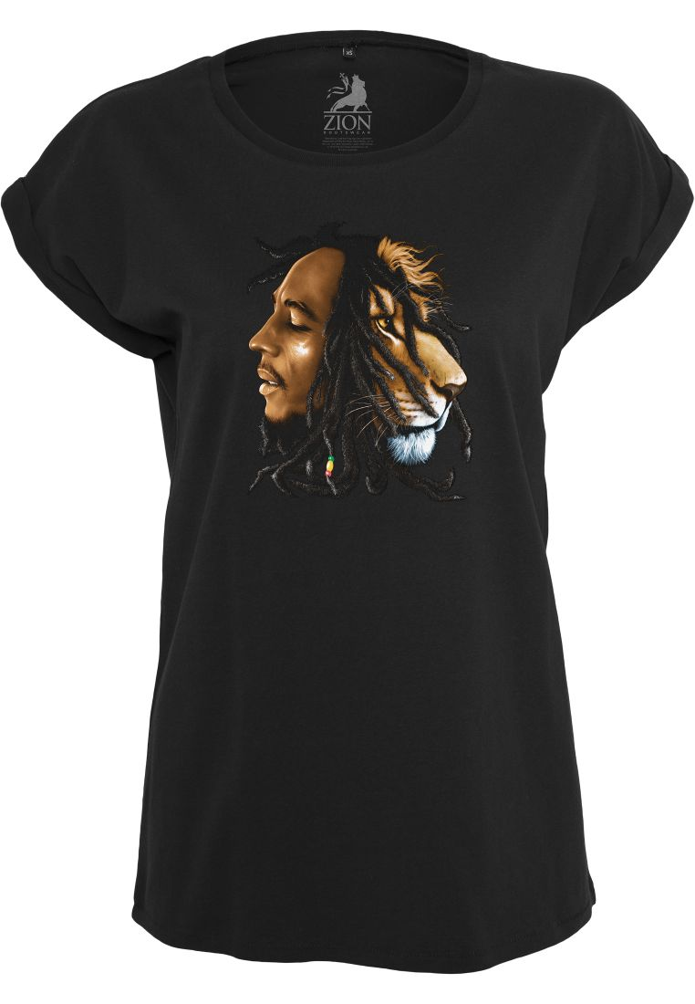 Ladies Bob Marley Lion Face Tee - T-PAIDAT - TTUMT497 - 1