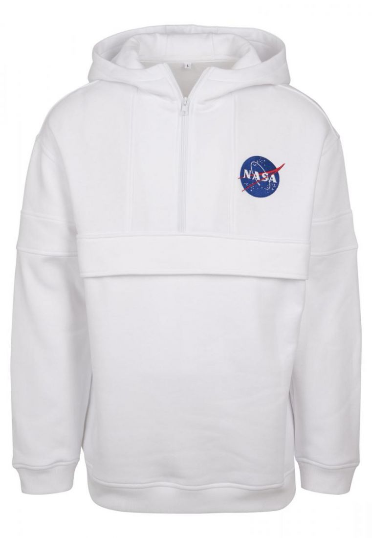 NASA Chest Embroidery Pull Over Hoody - HUPPARIT - TTUMT861 - 1