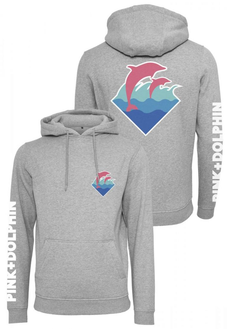 Pink Dolphin Logo Hoody
