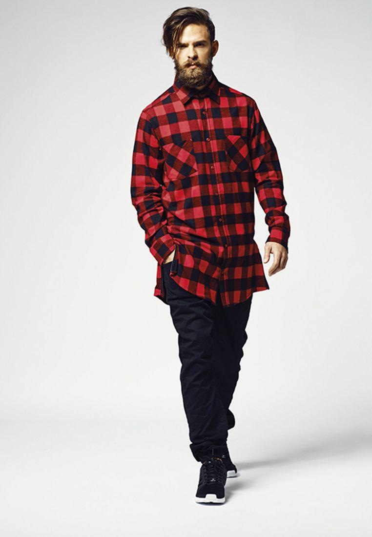 Side-Zip Long Checked Flanell Shirt - KAULUSPAIDAT - TTUTB1001 - 1