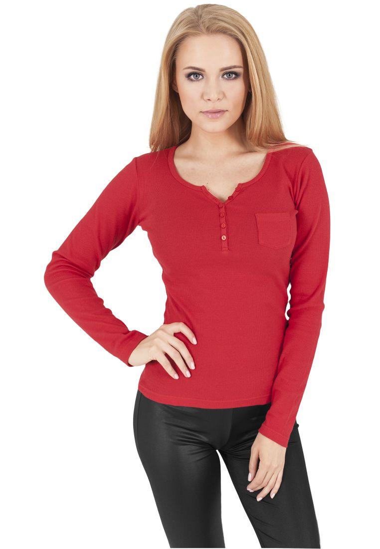 Ladies Rib Pocket L/S Tee - T-PAIDAT - TTUTB1036 - 1