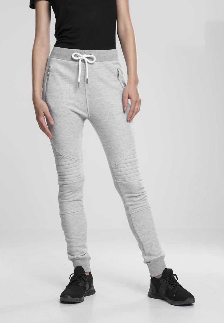 Ladies Melange Biker Sweatpants - COLLEGE HOUSUT - TTUTB1055 - 1