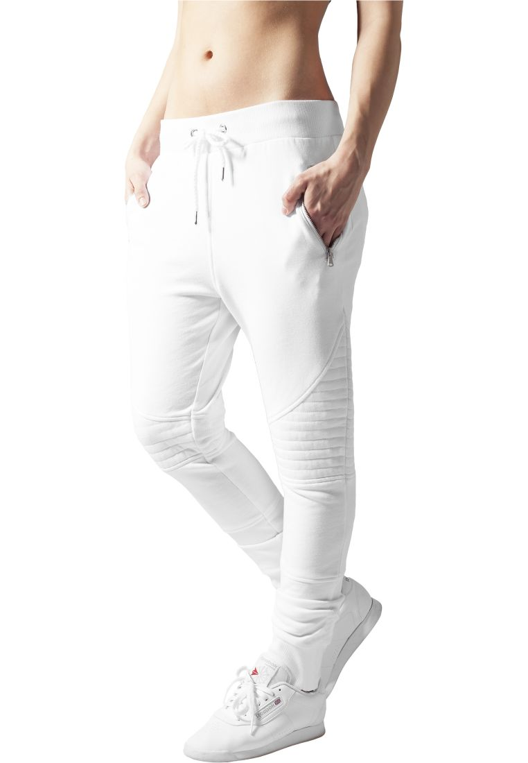 Ladies Melange Biker Sweatpants - COLLEGE HOUSUT - TTUTB1055 - 9