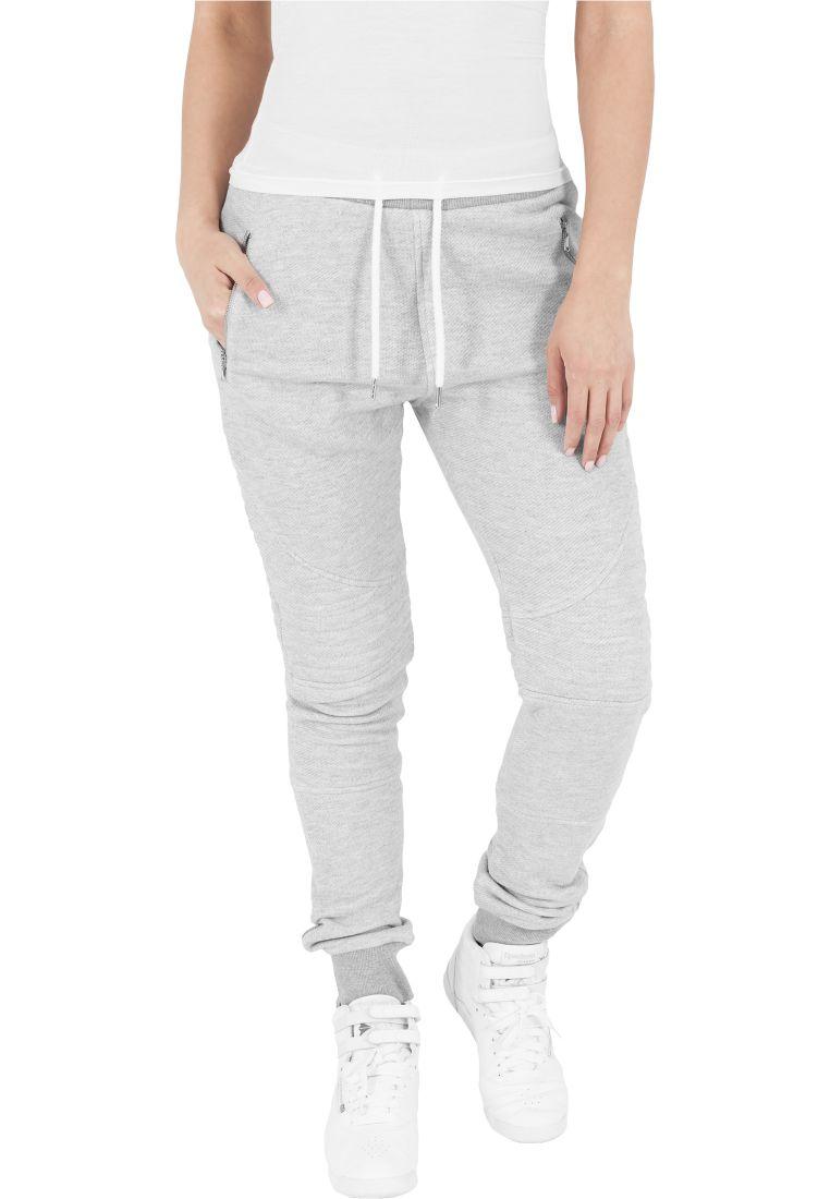 Ladies Melange Biker Sweatpants - COLLEGE HOUSUT - TTUTB1055 - 13
