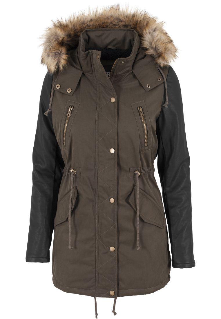 Ladies Leather Imitation Sleeve Parka - TILAUSTUOTTEET - TTUTB1091 - 10