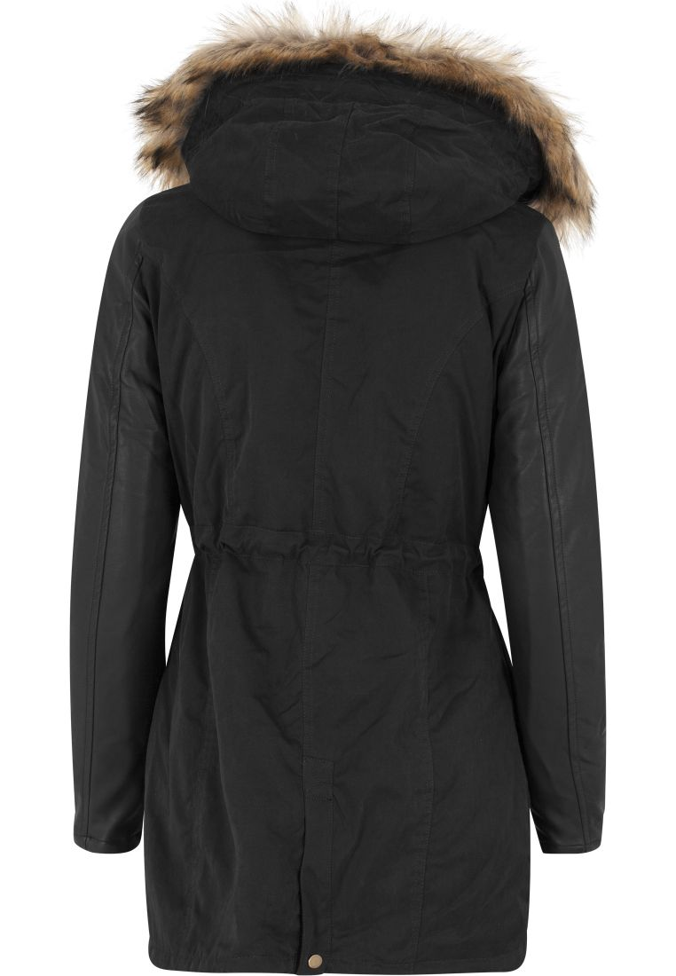 Ladies Leather Imitation Sleeve Parka - TILAUSTUOTTEET - TTUTB1091 - 6