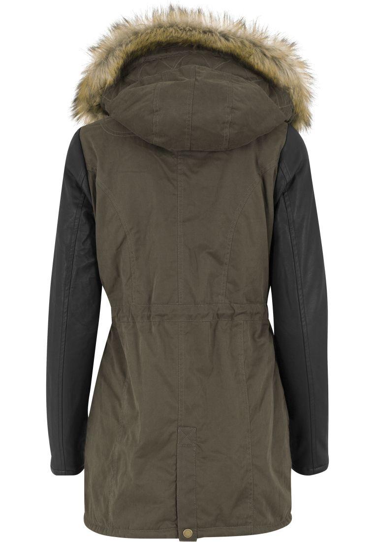 Ladies Leather Imitation Sleeve Parka - TILAUSTUOTTEET - TTUTB1091 - 12