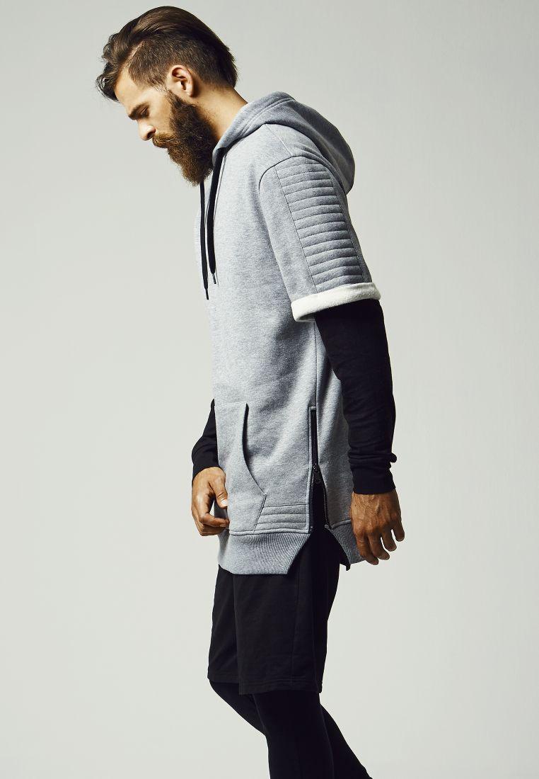 Short Sleeve Side Zipped Hoody - HUPPARIT - TTUTB1108 - 1