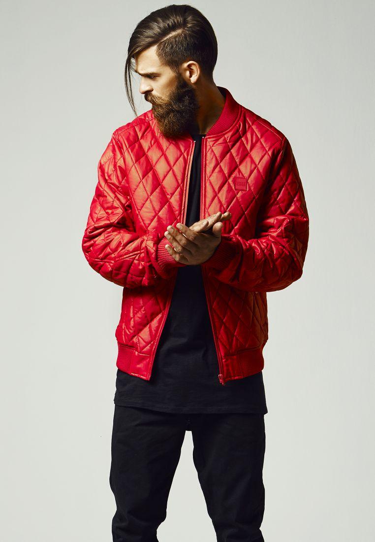 Diamond Quilt Leather Imitation Jacket - TAKIT - TTUTB1150 - 1